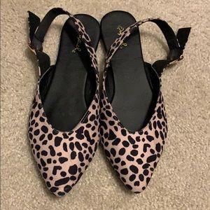 Qupid leopard flats
